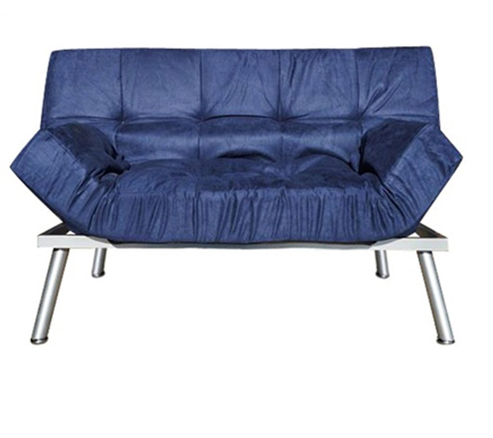 College Cozy Sofa - Mini Futon - Navy