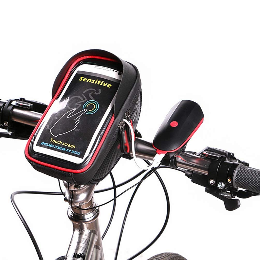House Day Bolsa Bicicleta Impermeable Tel/éfono Celular Bicicleta Marco Bolsa Sensible Pantalla T/áctil Funda Ciclismo Marco Bolsas Tubo Superior Con Visera Sol se Adapta Al Tel/éfono Celular Bajo 6.8