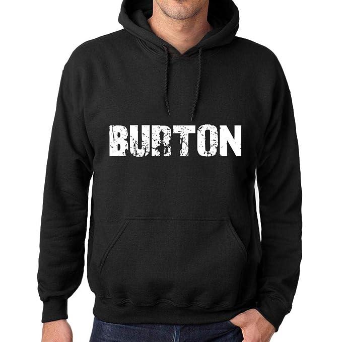 Mujer Hombre Sudadera Estampada con Capucha Camiseta de Manga Larga Popular Words Burton Negro Profundo: Amazon.es: Ropa y accesorios