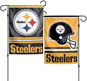 "WinCraft NFL Pittsburgh Steelers WCR08381013 Garden Flag, 11"" x 15"""