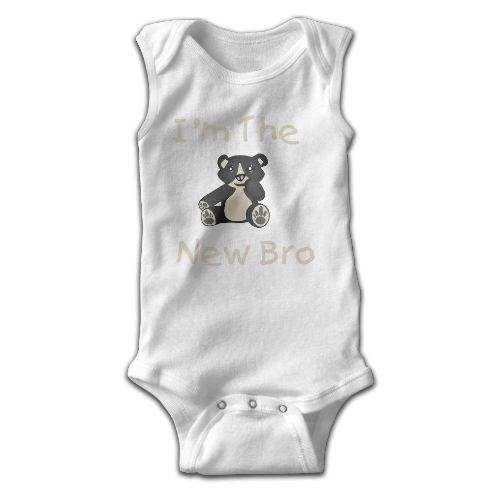 Midbeauty Bear The New Bro Newborn Infant Baby Summer Sleeveless Bodysuit Romper Jumpsuits Playsuit