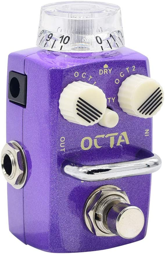 Hotone Skyline Octa Digital Polyphonic Organ Octave Guitarra Pedal de efectos de bajo