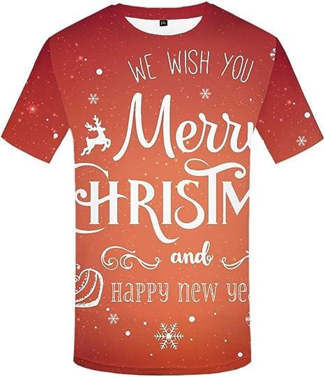 ZCYTIM Árbol de Navidad Camisetas Hombres Camiseta de Navidad Hombre Impresión de la Hoja Camiseta Punk Rock Ropa Verde 3D Camiseta Anime Ropa de Hombre Nuevo: Amazon.es: Deportes y aire libre