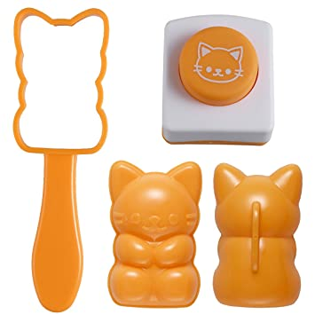 ounona gato forma molde arroz onigiri eléctrica molde 3d molde bola de arroz de Sushi molde con tostado algas estampadora herramienta de bricolaje de cocina ...