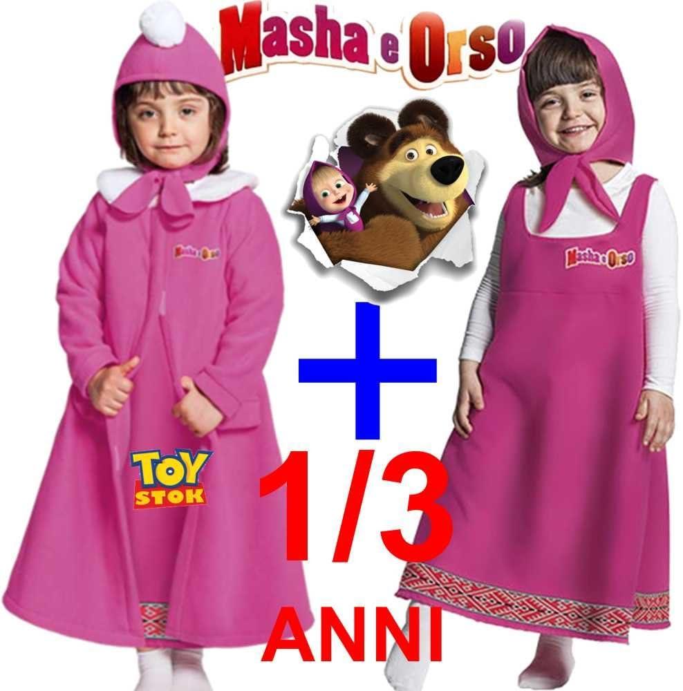 Bañador Masha con abrigo 1/3 años vestido Carnaval vestido Bimba ...