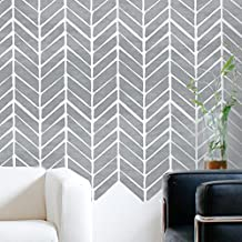 HERRINGBONE Furniture Wall Floor Stencil for Painting - Wall Large