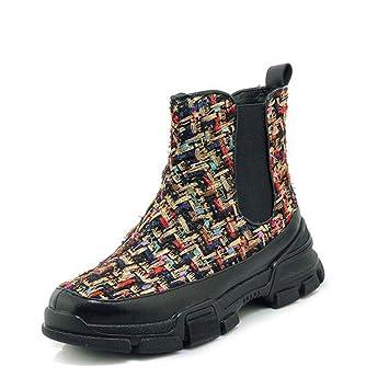 Hy Botines para Mujer, Zapatillas de Deporte de Primavera/otoño/Wint con Parte