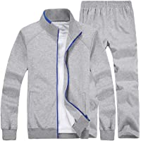 Lavnis Men's Casual Tracksuit Long Sleeve Full Zip Running Jogging Athletic Sports Set