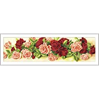 iDream Home Decoration 5D Diamond Painting Rhinestone Rose Flower DIY Mosaic Wall Decor (90cm x 30cm)