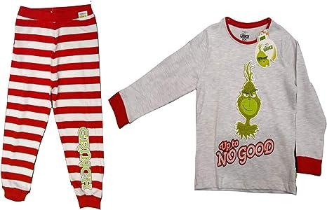 Pijama de Navidad para niñas de Grinch Girls Gris, Rojo. 12 ...