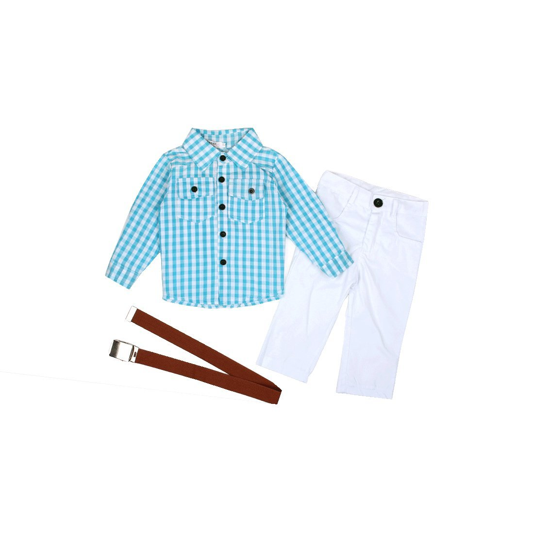 Little Boys' Striped Shirt and Casual Trousers Set (6T)
