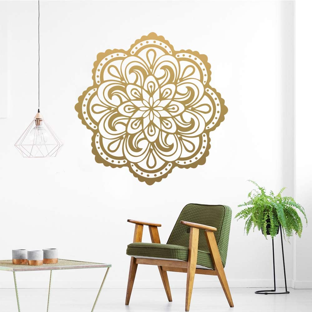 YOKIKI Mandala Yoga Vinyl Wallpaper Roll Furniture Decorative for Kids Room Living Room Home Decor for Living Room Kids Bedroom Home Decor