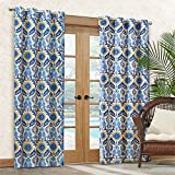 """Waverly Sun-n-Shade Santa Maria Indoor/Outdoor Panel, 52"""" by 84"""", Turquoise"""