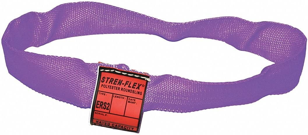 5//8 Diameter 3 ft Endless Polyester Type 5 Round Sling Color Code: Purple