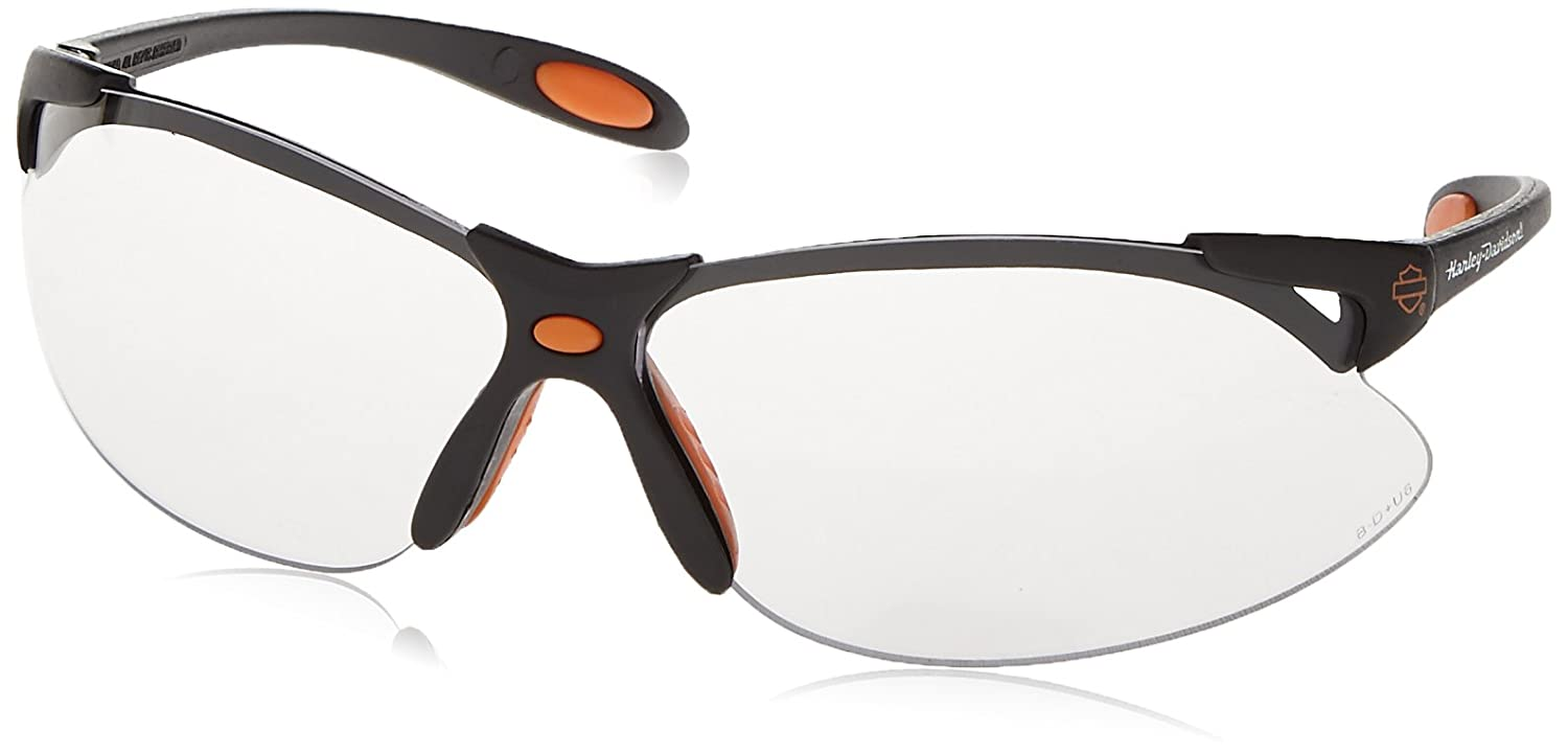 c43545ca59e Harley-Davidson HD1200 Safety Glasses with Black Frame and Clear Tint  Hardcoat Lens  Amazon.ca  Tools   Home Improvement