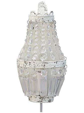 Wandlampe Wand - Kronleuchter antik weiß Shabby Chic Wandlüster ...