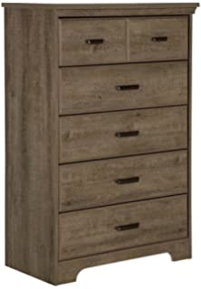 South Shore Versa 5 Drawer Chest, Weathered Oak