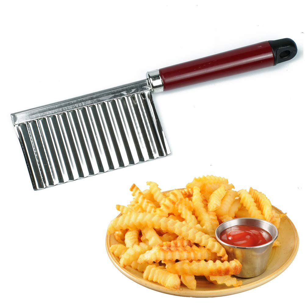 Potato Wavy Edged Knife Stainless Steel Kitchen Gadget Vegetable Fruit Cutting Peeler Cooking Tools kitchen knives Accessories by Artlalic (Image #1)