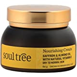SoulTree Saffron & Almond oil with natural vitamin e nurishing Cream, 60g