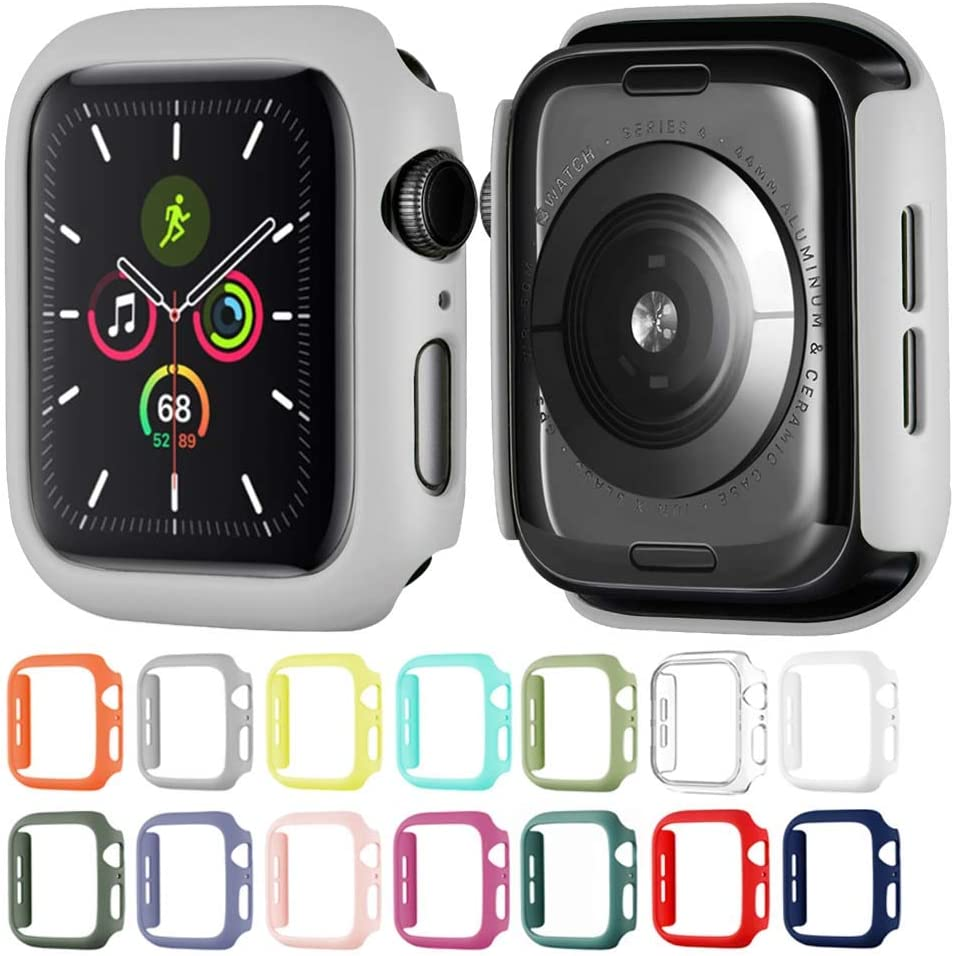 Hontao Hard Matte Case Buit in Thin Protective Cover Compatible Apple Watch 38mm iWatch Series 3 2 1 (Concrete 38mm)
