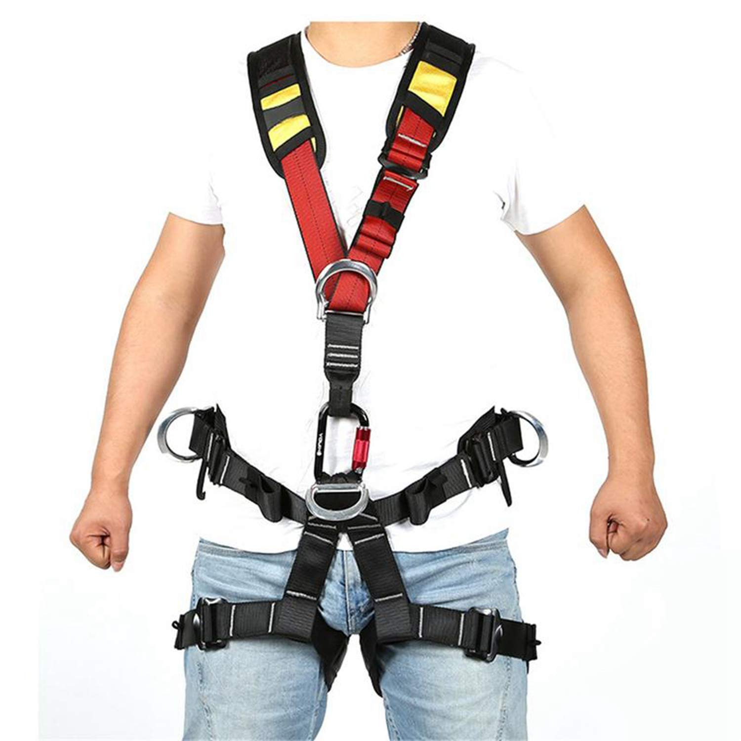 Nrpfell Outdoor Climbing Rock Rappelling Mountaineering Accessories Body Wearing Seat Belt Sitting Waist Bust Protection by Nrpfell (Image #4)