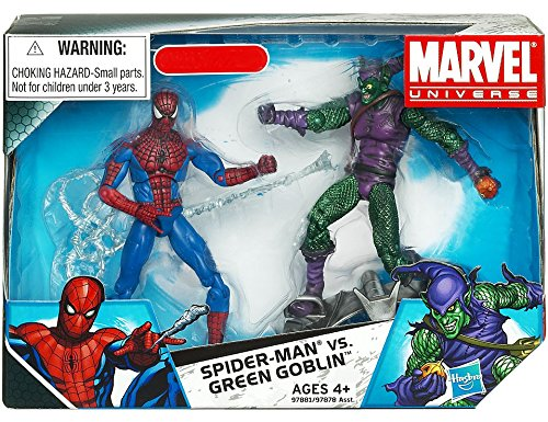 Marvel Universe 3 3/4 Inch Exclusive Action Figure 2Pack SpiderMan Vs. Green Goblin