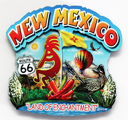 (New Mexico State Montage Wood Fridge Magnet 2)