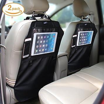 2 Stück Premium Auto Rückenlehnenschutz Rücksitz Schutz Kick-Matte Gut WO