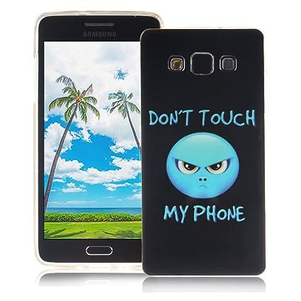 XiaoXiMi Funda Samsung Galaxy A5 2015 SM-A500F Carcasa de Silicona Caucho Gel para Samsung Galaxy A5 2015 SM-A500F Soft TPU Silicone Case Cover Funda ...