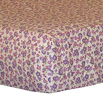 Amazon Com Cocalo Sugar Plum Fitted Sheet Crib Fitted Sheets Baby
