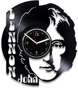 Clock John Lennon Vinyl Wall Clock The Beatles Home Decor Beatles Wall Art Music Clock John Lennon Xmas Idea For Fan Rock Band Art Beatles Vinyl Record Clock John Lennon Birthday For Man