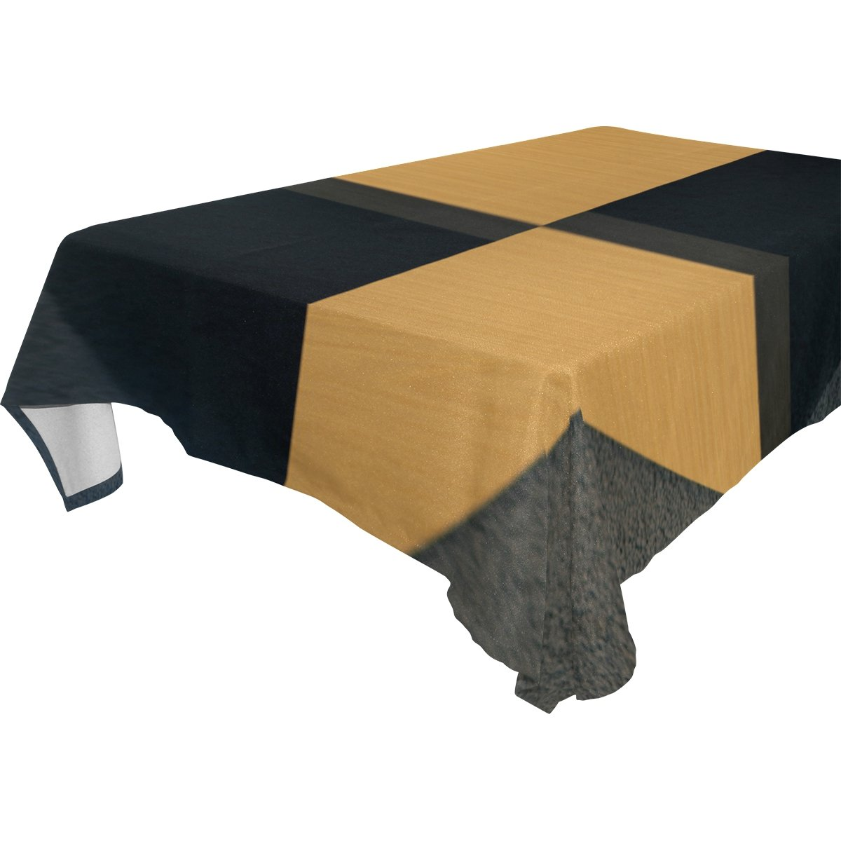 Double Joy Modern Rectangle Square Tablecloth 60x60 Inches Wing Wood Floor Cover for Dinners Parties Banquet or Picnic