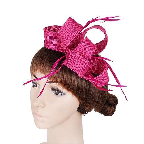 Cappello per capelli da donna giorno Fascinators d annata delle donne con  la clip e b64f7045eaca