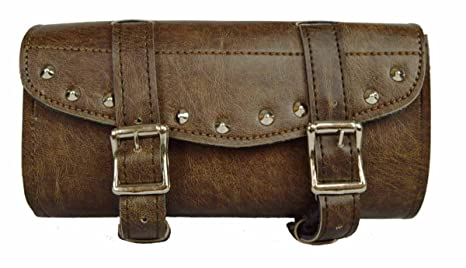 Motorcycle Tool Bag >> Amazon Com Distressed Brown Studded 2 Quick Release Buckle