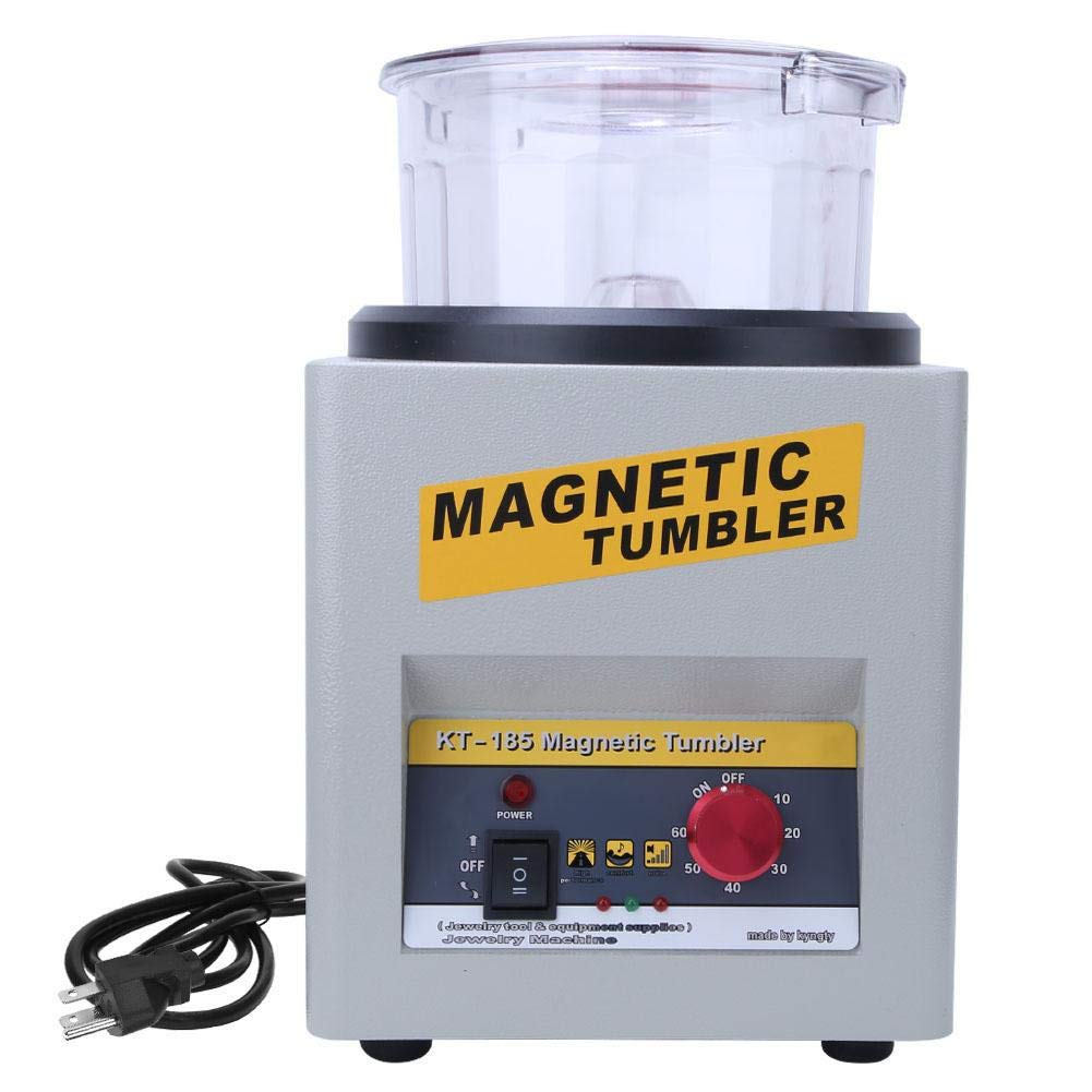 Duevin 2000rpm Professional Magnetic Tumbler Jewelry Polisher Finisher Machine Polishing Tool US
