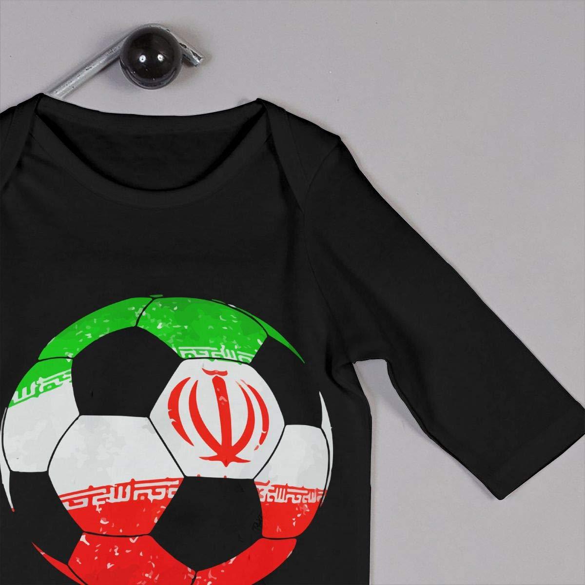 YUE--3BODY Iran Football Soccer Baby Boy Girl Long Sleeve Infant Cotton Bodysuits