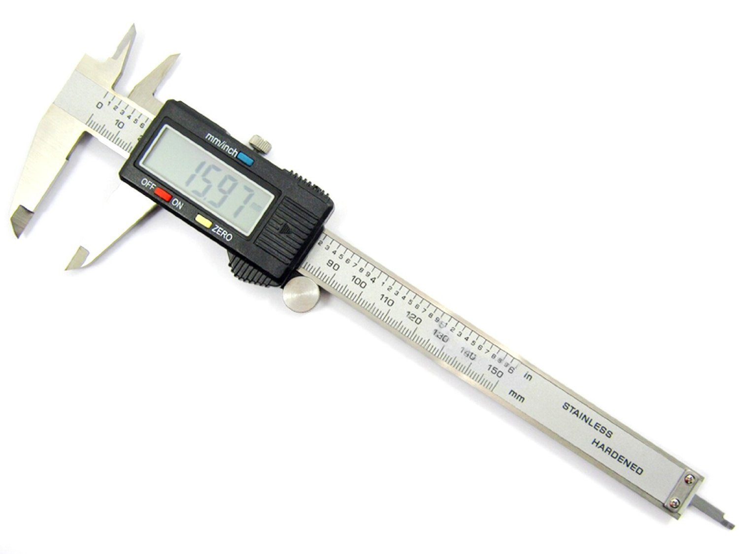LOOYUAN Stainless Steel Vernier Digital Electronic Caliper Inch/Metric Conversion 0-6 inch / 150mm Gauge Measuring tools With LCD Screen