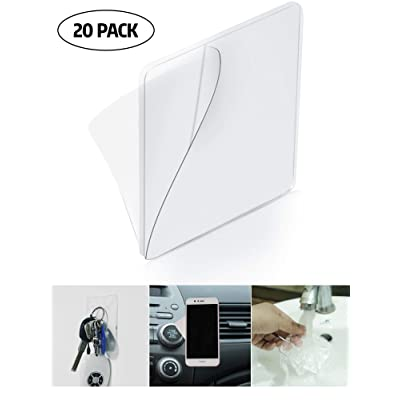 20 Pieces Sticky Silicone Gel Pads Transparent Non-Slip Sticky Pads Multipurpose Gripping Pads for Car, Home, Cell Phone Accessories