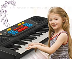 Troll Tree Kids Portable 37 Keys Multifunctional Electric Piano Keyboard Educational Toy Hobbies