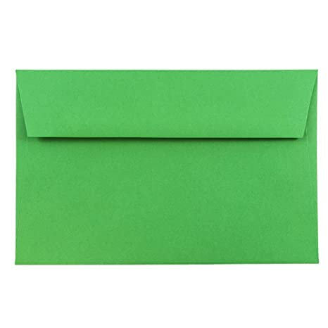 Christmas Green Color.Jam Paper A9 Colored Invitation Envelopes 5 3 4 X 8 3 4 Green Recycled 50 Pack