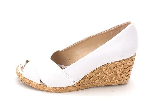 Adrienne Vittadini Womens Bailee Peep Toe Wedge Pumps White Of Size 6.0