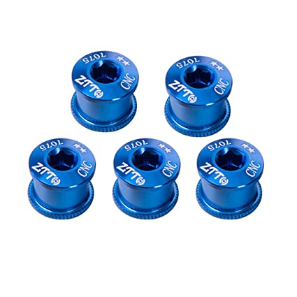 5PCS / Set Tornillos de aleación de Aluminio Plato Tornillos de Rueda de Cadena Bicicleta de
