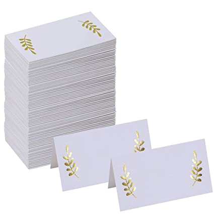 amazon com supla 100 pcs place cards 3 5 x 2 lxw table name