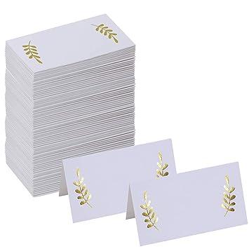 amazon supla 100 pcs gold place cards 8 9cm x 5 1cm lxw table