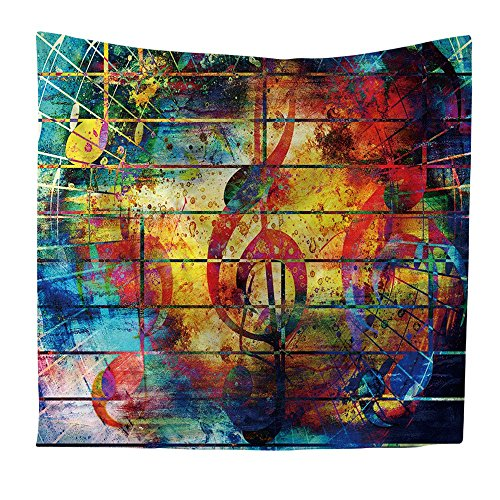 KRWHTS Colorful Collage Music Home Decor Tapestries Wall Art, Musical Note Tapestry Wall Hanging Art Sets150130cm(60