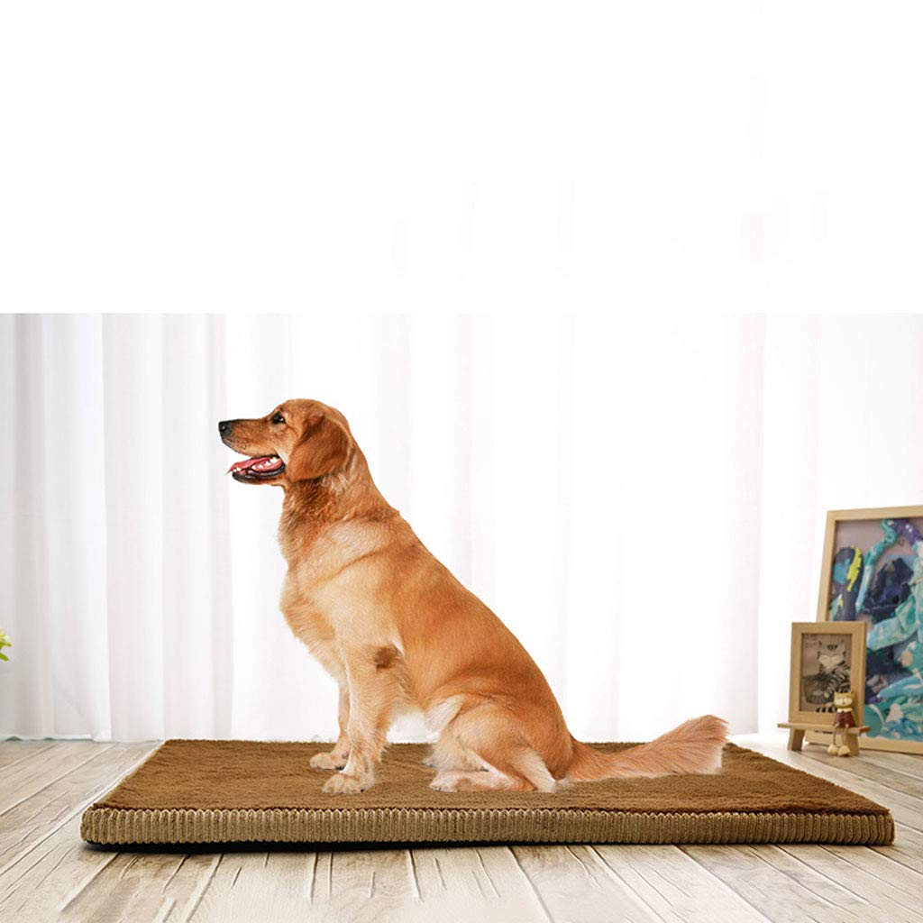 BROWN XXL BROWN XXL Pet Beds Four Seasons Dog Pad Removable And Washable golden Hair Large Dog Autumn And Winter Kennel Pet Mat Sleeping Pad Dog Supplies Winter Is Not Easy Sticky Hair Sponge Pad Double-sided Available B
