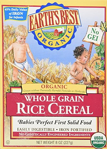 Earths Best Cereal, Original Whole Grain Rice, 8 oz (Pack of 2)