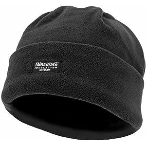 642cb0bdeab03 Zip Zap Zooom Mens Black Woolly Warm Fleece Beanie Hat Cap Ski Black  Thinsulate Army Military