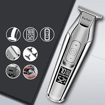QXXNB Cortadora de Pelo Pantalla Digital LCD Afeitadora eléctrica ...