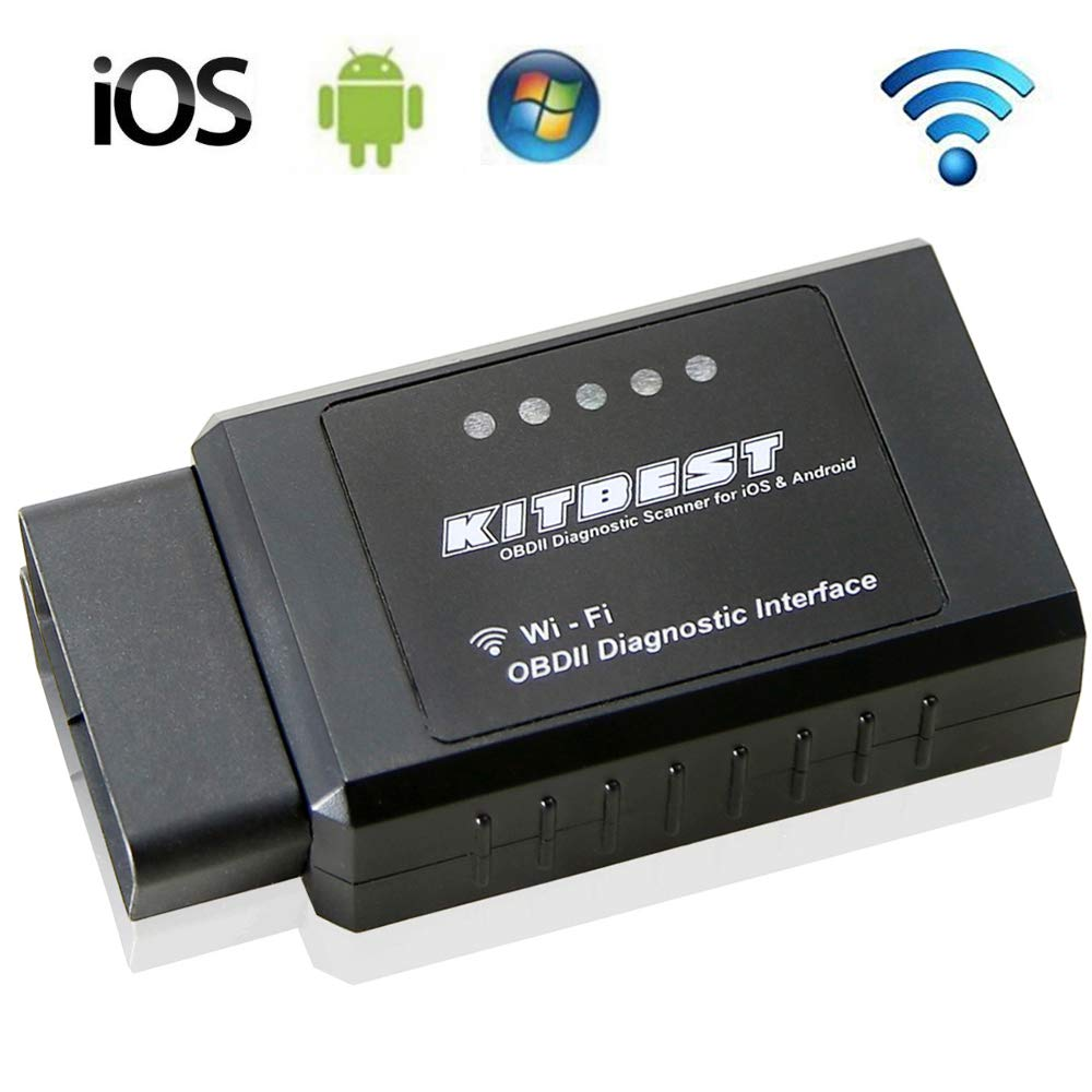 OBD OBD2 Scanner Professional Car Diagnostic Scanner Tool, Auto Code Reader Check Engine Light Reset, WiFi OBDII Scan Tool Compatible for iOS & Android. 5 Year Warranty